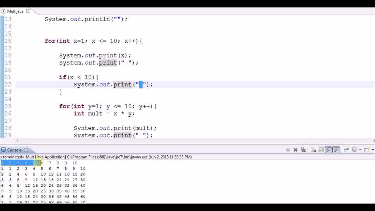 Multiplication table using nested loops codemasry jump to section 1094 of the video gamestrikefo Choice Image